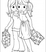 coloriage precious moments 003